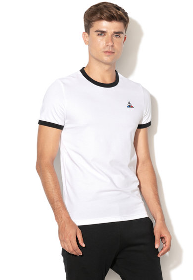 Le Coq Sportif Тениска с контрастни яка и маншети Мъже