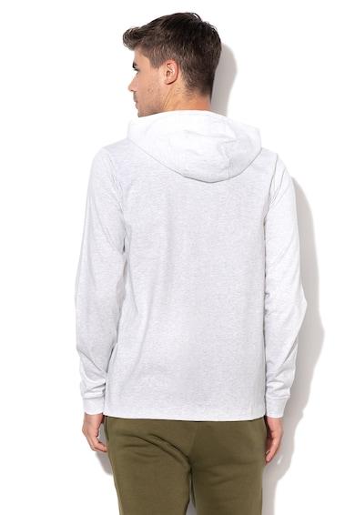 af7f50595d Nike Cipzáros kapucnis pulóver hímzett logóval, Melange világosszürke, férfi