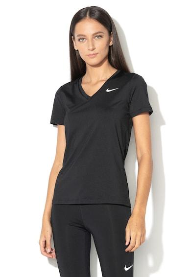 Nike Tricou cu decolteu in V si Dri-Fit, pentru fitness Femei