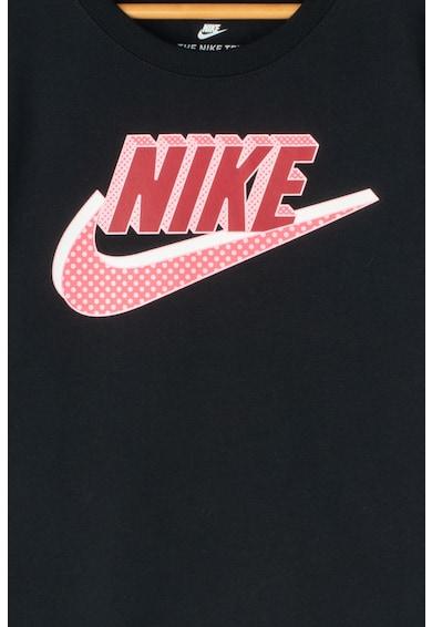 Nike Tricou cu terminatie asimetrica si imprimeu logo Baieti