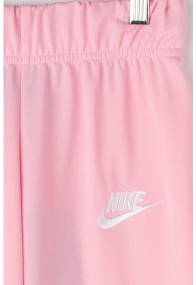 Nike Спортен екип с рипсени маншети, Пастелнорозов / Бял, L Момичета