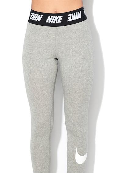Nike Leggings rugalmas logós derékpánttal, Melange szürke női