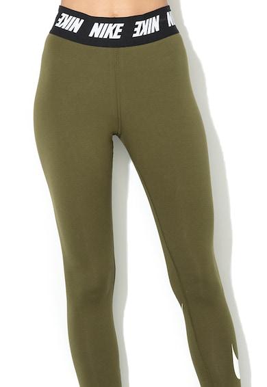 Nike Leggings rugalmas logós derékpánttal, Katonai zöld női