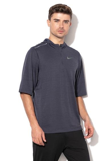 Nike Суитшърт за бягане с качулка и къси ръкави Мъже