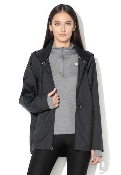 Nike Könnyű, vízlepergető cipzáras kapucnis futópulóver női