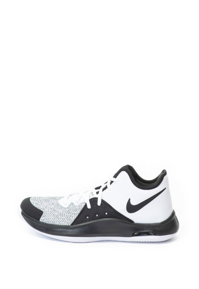 Nike Pantofi sport unisex de piele ecologica si material textil, pentru baschet Air Versitile III Femei