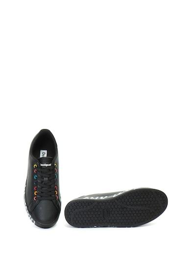 DESIGUAL Pantofi sport de piele ecologica Cosmic Candy Femei