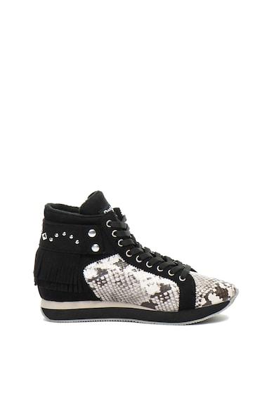 DESIGUAL Miwok középmagas szárú cipő hüllőbőr mintával női