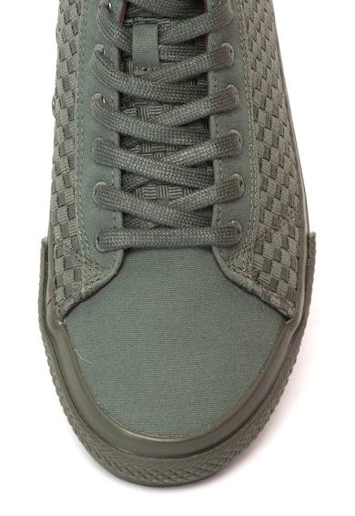 Guess Középmagas szárú plimsolls cipő fonott hatással férfi