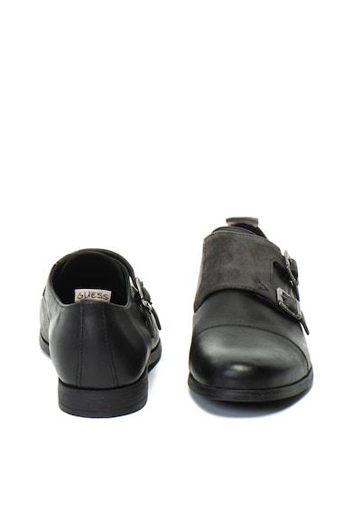 Guess Pantofi monk de piele cu detaliu de piele intoarsa Barbati