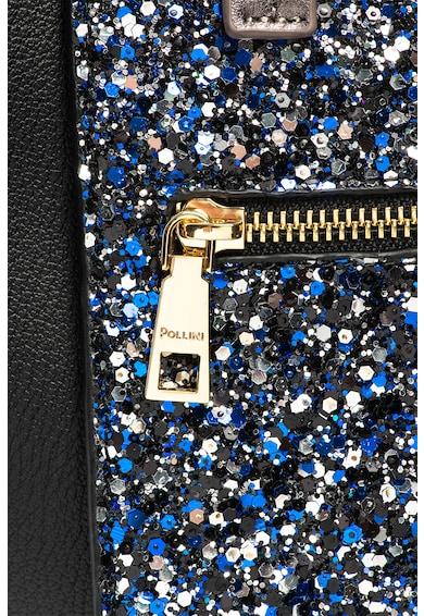 Pollini Чанта от еко кожа с брокат Жени