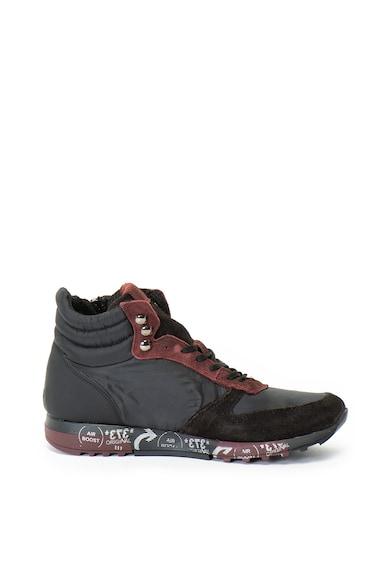 Zee Lane Nylon és nyersbőr középmagas szárú sneakers cipő férfi