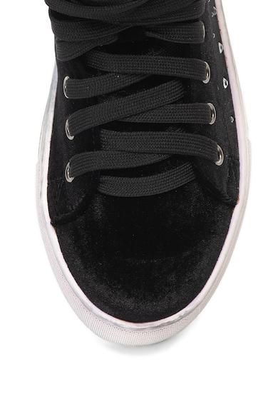 Oakoui Pantofi sport inalti, catifelati cu strasuri Femei