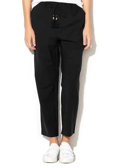 Max&Co Pantaloni din amestec de lana cu snur pentru ajustare Campana Femei