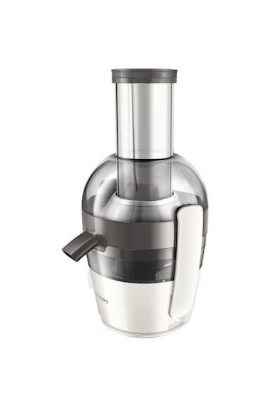 Philips Storcator de fructe  Viva Collection HR1855/80, 700 W, Recipient suc 0.8 l, Recipient pulpa 1.2 l, 1 Viteza, Tub de alimentare 75 mm, Alb Femei