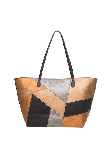 DESIGUAL Шопинг чанта от еко кожа с метализиран ефект Жени