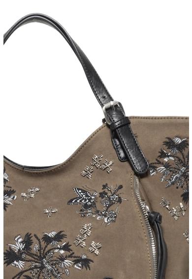DESIGUAL Shopper táska hímzésekkel és gyöngyös díszítéssel női