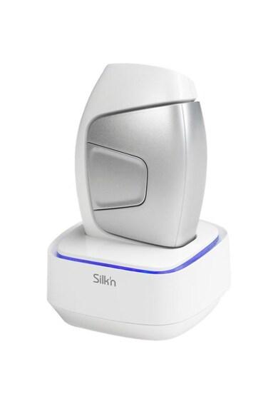 Silk'n Epilator HPL Silk'n Glide Unisex, 200000 impulsuri, Lumina intens pulsata, tehnologie IPL, Dispozitiv de dezinfectare, corp si fata, utilizare cu fir, Alb/Argintiu Femei