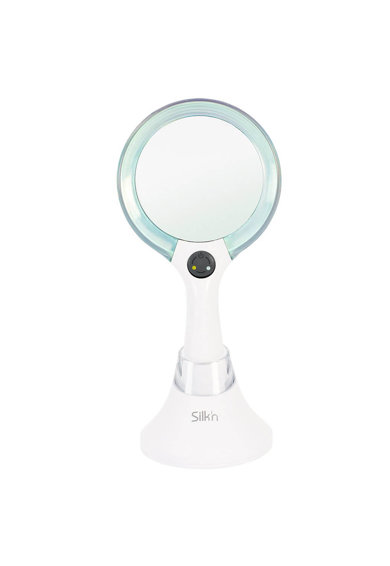 Silk'n Oglinda cosmetica dubla cu iluminare LED Silk'n MirrorLumi, amplificare 5x, lumina, time , incarcare wireless, Alb Femei