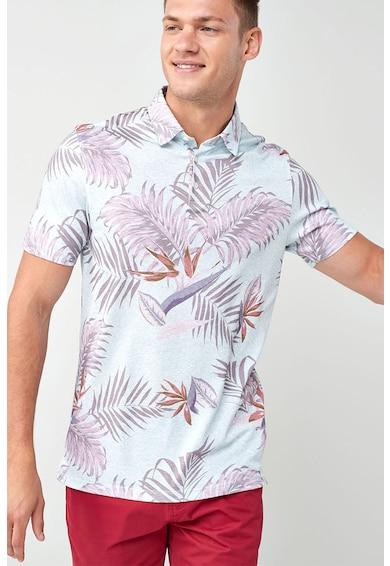 NEXT Trópusi mintás galléros póló férfi