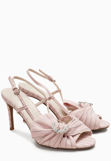 NEXT Sandale cu model in dungi si strasuri Femei