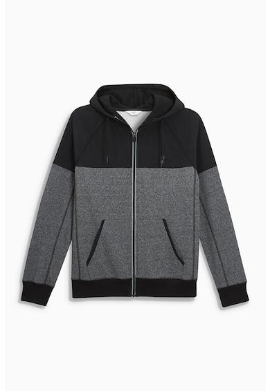 NEXT Cipzáros kapucnis pulóver férfi