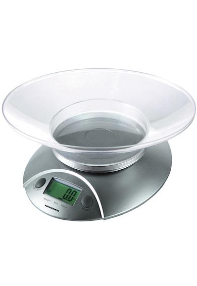 Heinner Cantar de bucatarie cu Bol  , 5 Kg, Tara, functie cantarire lichide, 1 g, display lcd, Argintiu Femei