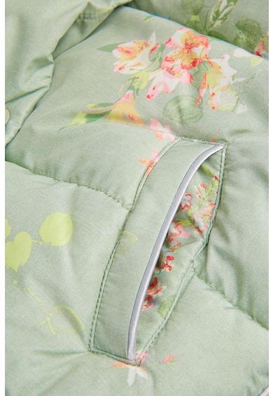 NEXT Virágmintás, bélelt, kapucnis kabát Lány