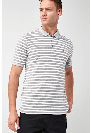 NEXT Regular Fit csíkos galléros póló férfi