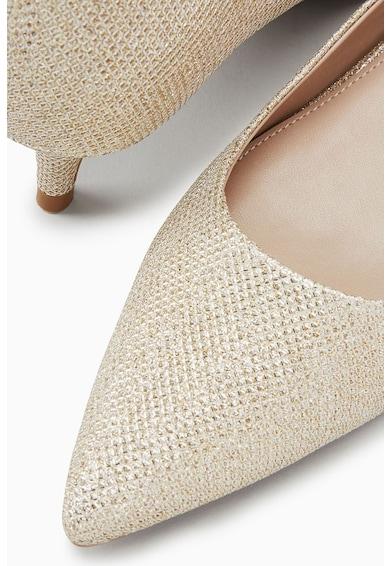NEXT Pantofi cu toc kitten si aspect stralucitor Femei
