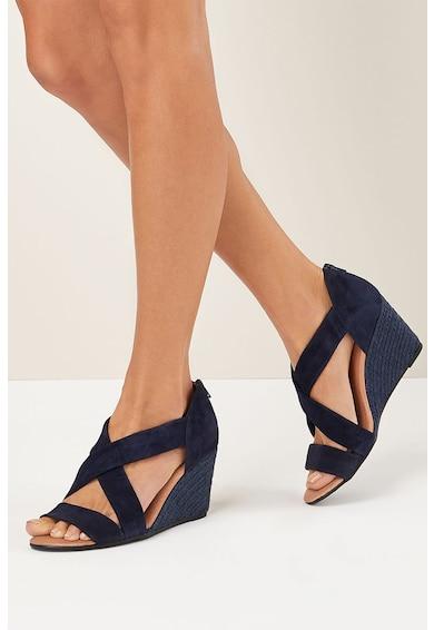 NEXT Sandale wedge tip espadrile de piele intoarsa Femei