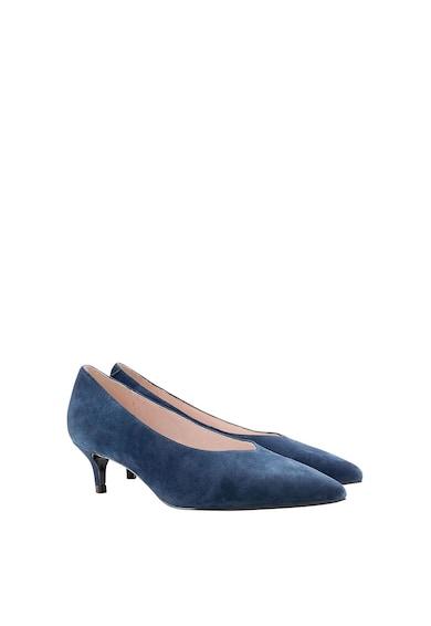 NEXT Pantofi de piele intoarsa cu varf ascutit si toc kitten Femei