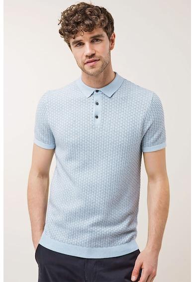 NEXT Texturált galléros póló férfi