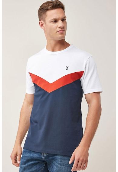 NEXT Regular fit póló colorblock dizájnnal férfi