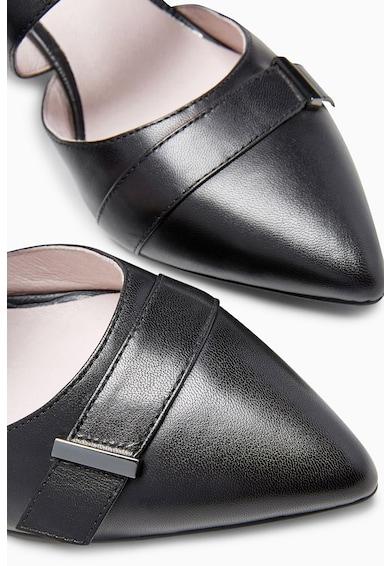 NEXT Hegyes orrú, sarokpántos bőrcipő női