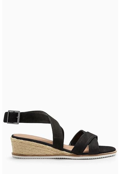 NEXT Sandale wedge tip espadrile de piele Femei