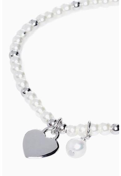 NEXT Gyöngyös karkötő ezüst szívmedállal női