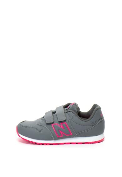 New Balance Pantofi sport din piele ecologica cu velcro 500 Fete
