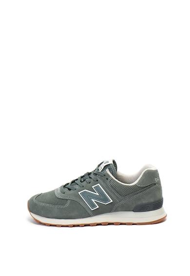 New Balance 574 nyersbőr sneakers cipő textilbetéttel férfi