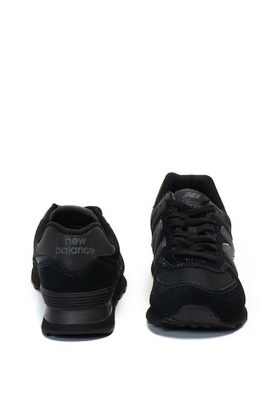 New Balance Pantofi sport de piele intoarsa si material textil 574 Barbati