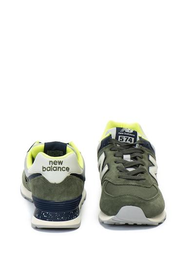 New Balance Велурени спортни обувки 574 с текстил Мъже