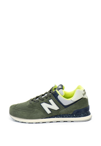 New Balance 574 nyersbőr cipő textilbetétekkel férfi