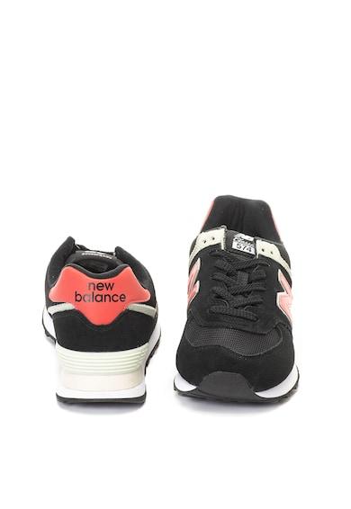 New Balance 574 nyersbőr és textil anyagú sneakers cipő férfi