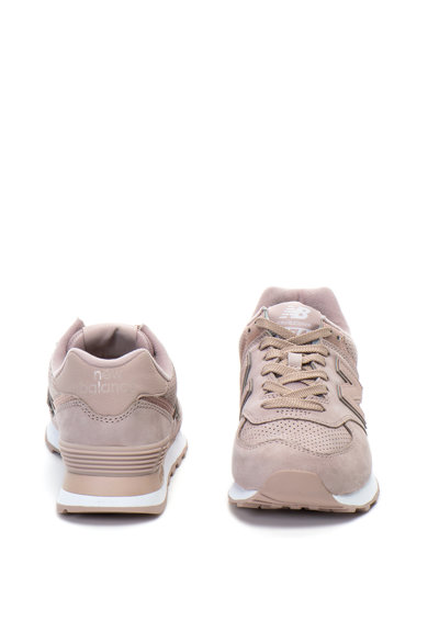 New Balance Pantofi sport de piele nabuc si plasa, cu calapod lat 574 Femei