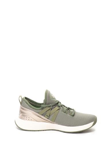 Under Armour Pantofi cu model plasa si detalii metalizate, pentru fitness Femei