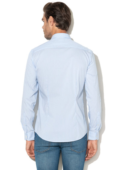 United Colors of Benetton Slim fit hosszú ujjú csíkos ing férfi