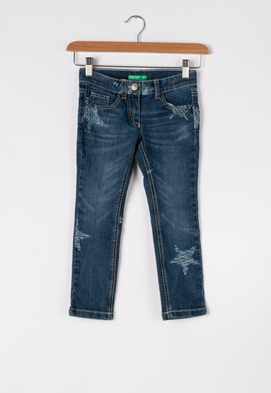 United Colors of Benetton Skinny fit farmernadrág csillagos mintával Lány