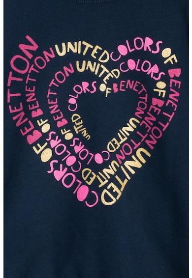 United Colors of Benetton Szövegmintás pulóver Lány