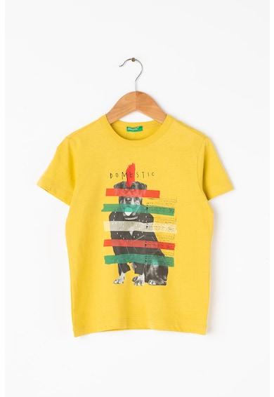 United Colors of Benetton Grafikai mintás pamutpóló Fiú