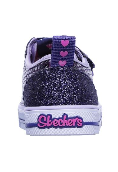 Skechers Tenesi cu LED-uri si paiete Shuffles Itsy Bitsy Fete